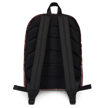 CAVIS Celtic Dragon Design Backpack, Alternative Burgundy and Gold Book Bag - Back