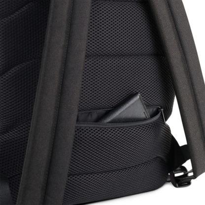 CAVIS Celtic Dragon Design Backpack, Alternative Burgundy and Gold Book Bag - Back Pocket