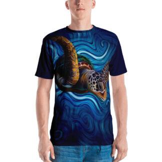 CAVIS Sea Turtle Men's Shirt - Blue - Front