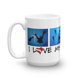 Scuba Diver Silhouette Mug
