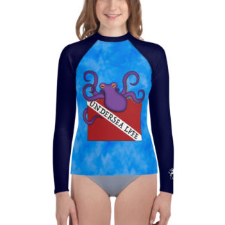 CAVIS Dive Flag Octopus Youth Rash Guard - Undersea Life - Front