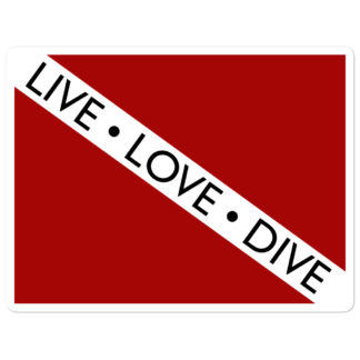 CAVIS Dive Flag - Live Love Dive - 4in