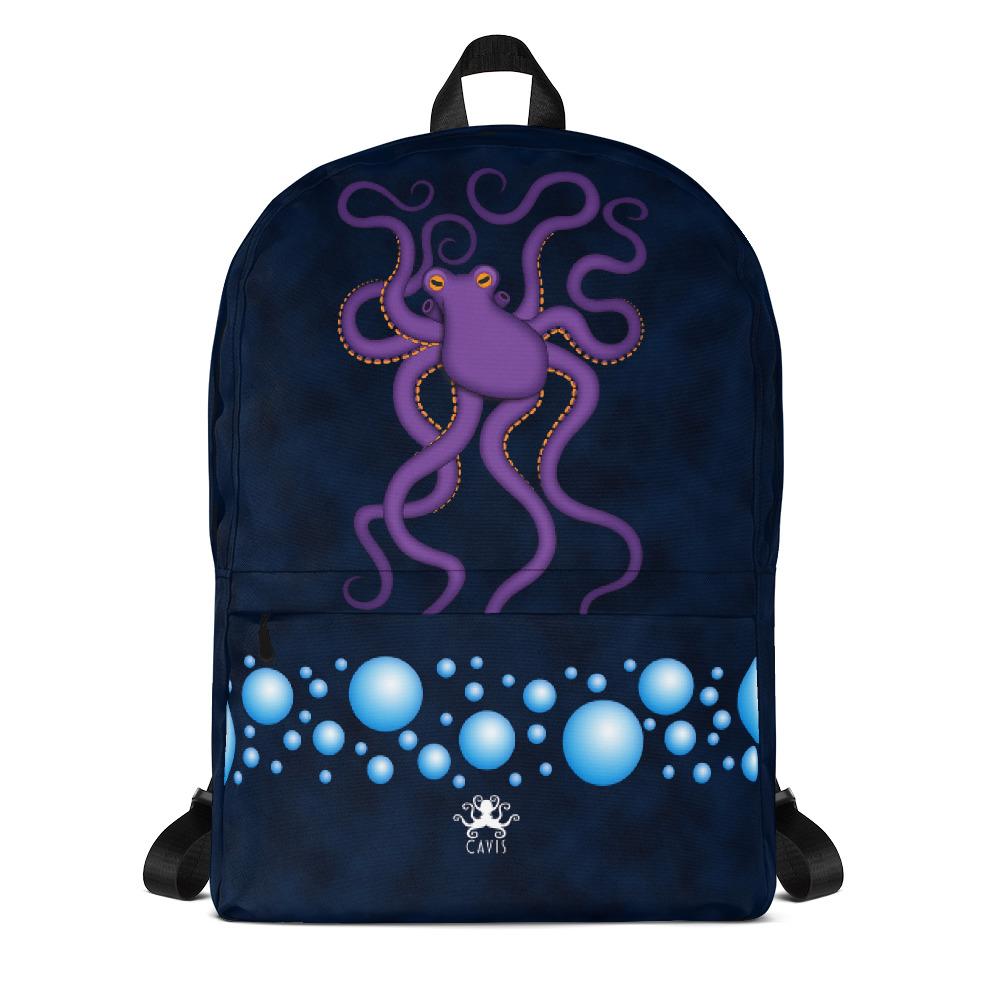 Cavis Purple Octopus Backpack Fun Underwater Sea Life Book Bag