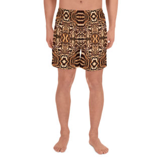 CAVIS Wonderpus Athletic Men's Shorts - Natural Color Octopus Pattern - Front