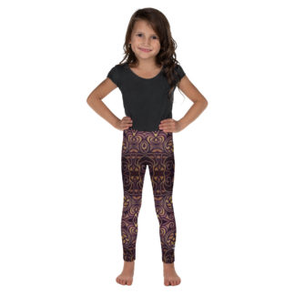 CAVIS Celtic Dragon Kid's Leggings - Burgundy - Front