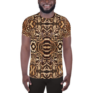 CAVIS Wonderpus Men's Tech Athletic Shirt - Natural Color - Front