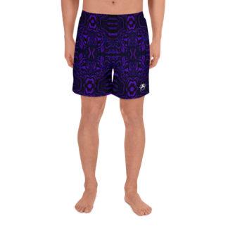 CAVIS Wonderpus Athletic Men's Shorts - Purple Octopus Pattern - Front