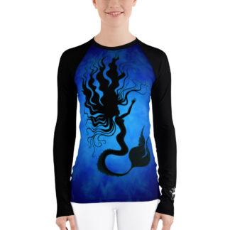 CAVIS Mermaid Women's Rash Guard - Blue Dive Skin - Front