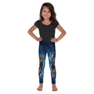 CAVIS Sea Turtle Kid's Leggings - Blue - Front