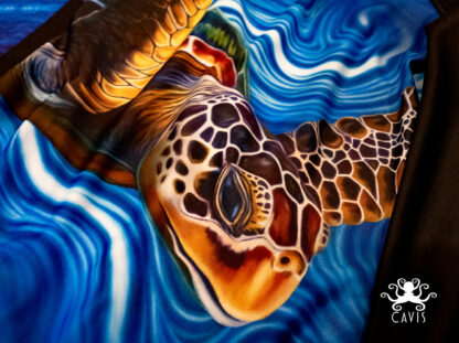 CAVIS Sea Turtle Rash Guard Fabric