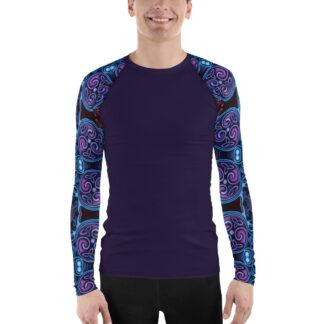 CAVIS Celtic Soul Sleeves Men's Rash Guard - Artsy Dive Skin Swim Shirt - Front