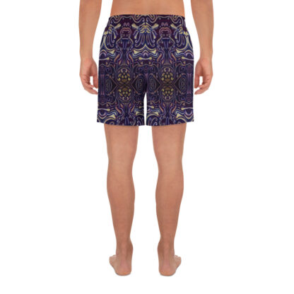 CAVIS Celtic Big Dragon Pattern Men's Athletic Shorts - Back