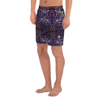 CAVIS Celtic Big Dragon Pattern Men's Athletic Shorts - Left