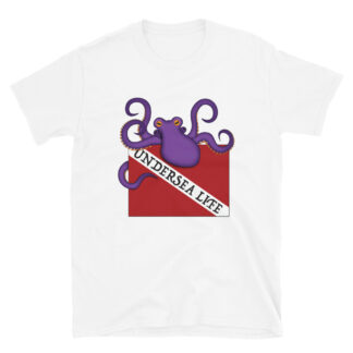 CAVIS Scuba Dive Flag Octopus T-shirt - Undersea Life - White