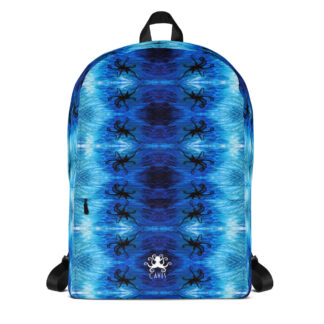 CAVIS Blue Ocean Octopus Pattern Backpack - Front