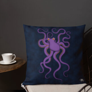 CAVIS Purple Octopus Pillow - Front 3