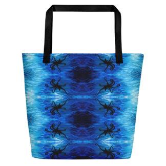 CAVIS Blue Ocean Octopus Beach Bag - Bright Blue Tote