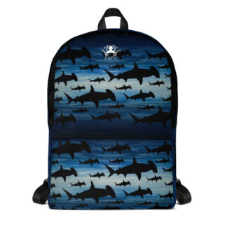 CAVIS Hammerhead Shark Pattern Backpack - Front