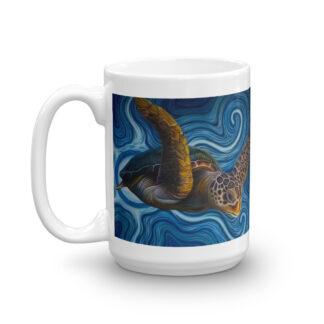 CAVIS Sea Turtle Mug - 15 oz. - Coffee Cup Gift