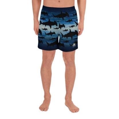CAVIS Hammerhead Shark Pattern Men's Athletic Shorts - Front