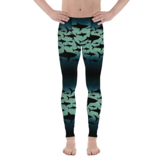 CAVIS Shark Pattern Leggings - Men's Leggings Dive Skin - Front