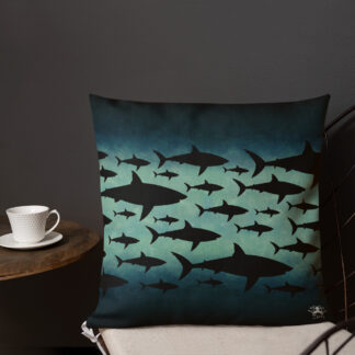 CAVIS Shark Pattern Pillow - Front 3
