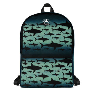 CAVIS Shark Pattern Backpack - Front