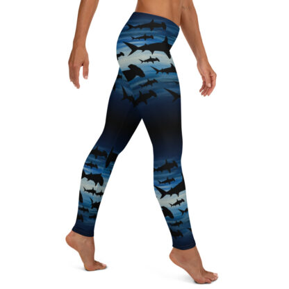 CAVIS Hammerhead Shark Pattern Leggings - Women's Scuba Leggings - Right