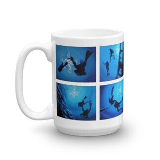 CAVIS Scuba Diver Silhouette Mug - 15 oz. - Scuba Diver Gift