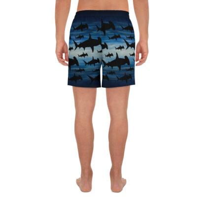 CAVIS Hammerhead Shark Pattern Men's Athletic Shorts - Back