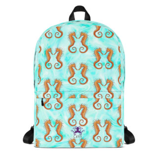 CAVIS Seahorse Pattern Backpack - Front