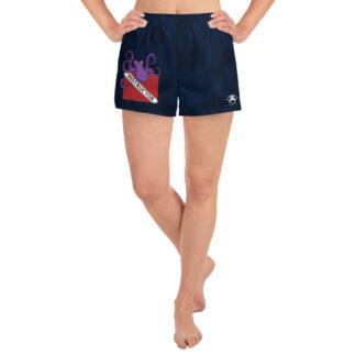 CAVIS Dive Flag Octopus Women's Athletic Shorts - Scuba Instructor Shorts - Front