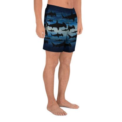 CAVIS Hammerhead Shark Pattern Men's Athletic Shorts - Right
