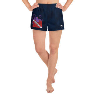 CAVIS Dive Flag Octopus Women's Athletic Shorts - Scuba Divemaster Shorts - Front