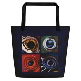 CAVIS Aquatic Eyes Beach Bag - Dark Blue Background