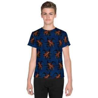 CAVIS Flying Octopus Pattern Youth Shirt - Front