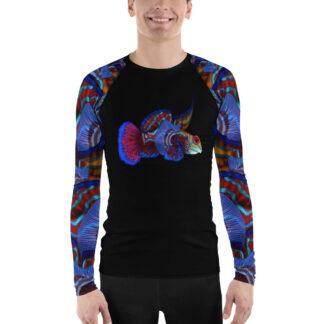 CAVIS Mandarin fish Rash Guard - Men's Colorful Swim Shirt - Front