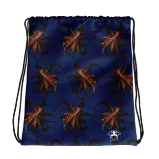 CAVIS Flying Octopus Drawstring Bag