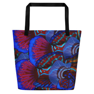 CAVIS Mandarinfish Pattern Beach Bag