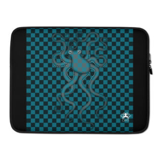 CAVIS 80's Style Checkered Camouflage Octopus Laptop Sleeve - 15 inch