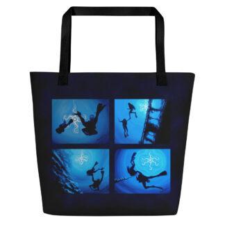 CAVIS Scuba Dive Silhouette Beach Bag