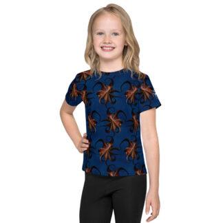 CAVIS Flying Octopus Pattern Kid's Shirt - Front