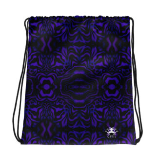 CAVIS Wunderpus Drawstring Bag - Purple and Black