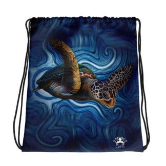 CAVIS Sea Turtle Drawstring Bag