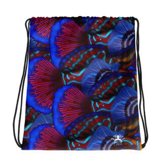 CAVIS Mandarinfish Pattern Drawstring Bag