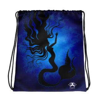 CAVIS Mermaid Drawstring Bag - Dark Background