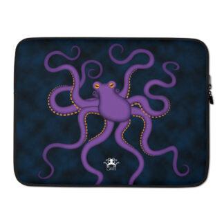 CAVIS Purple Octopus Laptop Sleeve - 15 inch