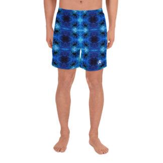 CAVIS Blue Ocean Octopus Men's Athletic Shorts - Front