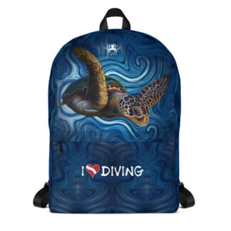 CAVIS Sea Turtle - I Love Diving Backpack