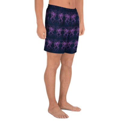 CAVIS Purple Octopus Men's Shorts - dark blue athletic shorts - Right